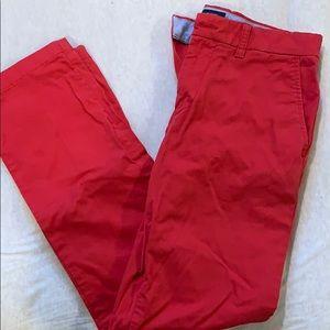 tommy hilfiger red slacks
